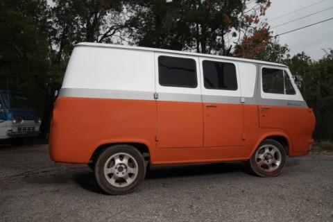 orange vintage econoline van