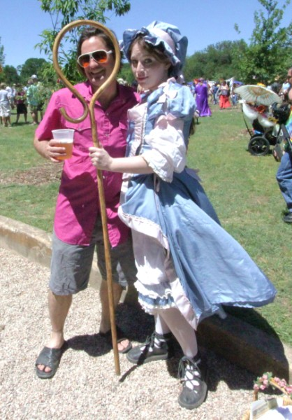 bo peep at eeyore's birthday 2010