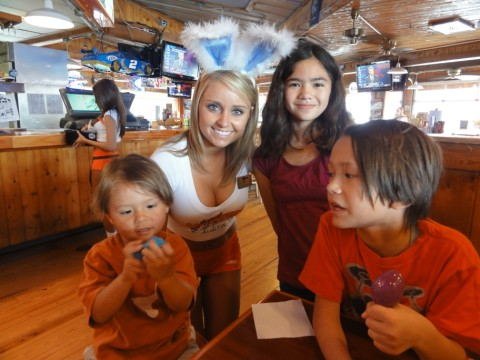easter bunny at hooters