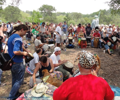 drum circle at eeyore's 2011