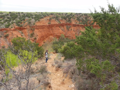canyon rim trail caprock canyons state park tx