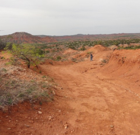downhill bike trail eagle trail caprock canyon