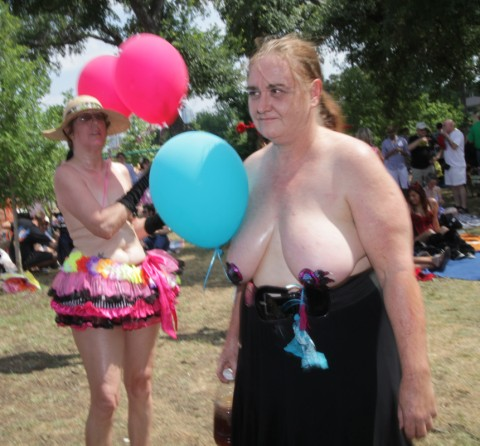 popped balloon boob at eeyore's 2012