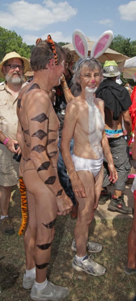 tigger and rabbit eeyore's birthday costume contest 2012
