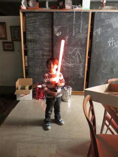 light saber darth vader toy