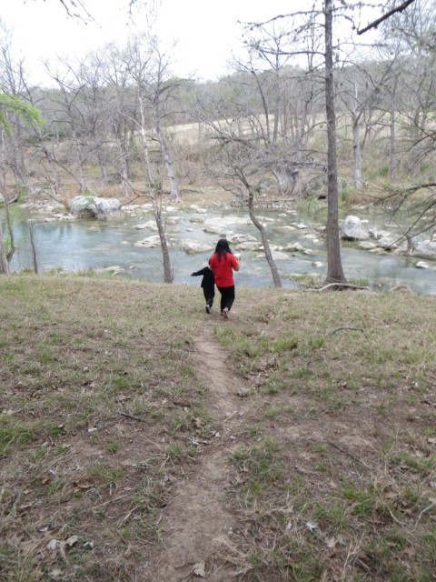 path down the blanco river