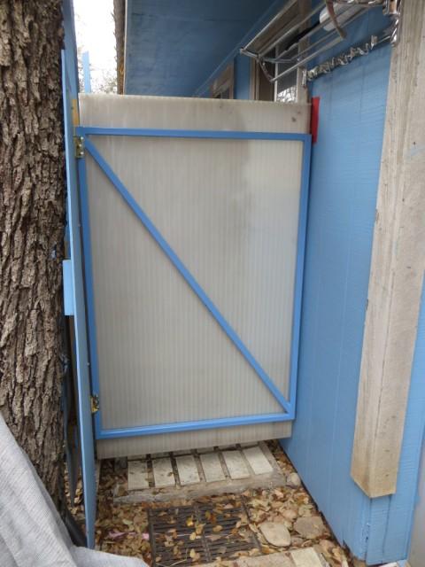 polygal outdoor shower door