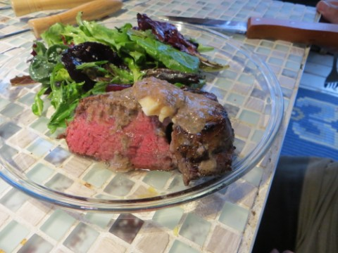 beef tenderloin with moody blue cheese and gravy wimberley