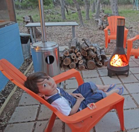 metal mcm outdoor fireplace