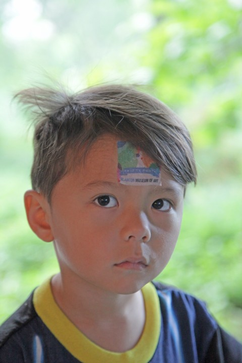 blanton museum of art 50th birthday party face tattoo