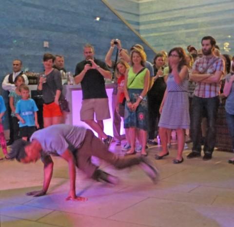 break dancer blanton museum of art party austin