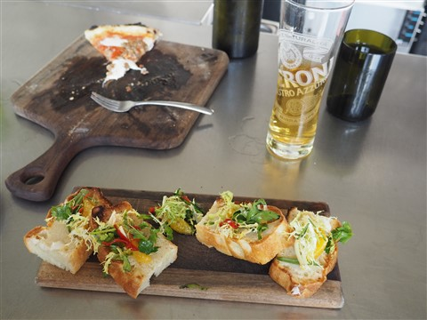 whipped lardo bruschetta