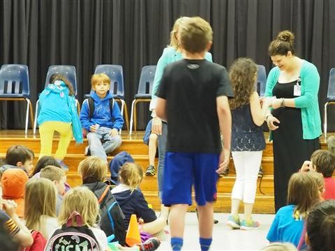 Eanes Elementary dog tag ceremony 2015