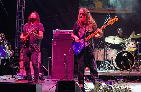 Eric McFadden mandolin, Carl Dufrene and Brady Blade drummer