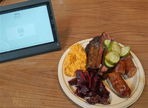 three meat plate at micklethwait bbq