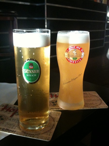 kolsch and belgian blanche at frite