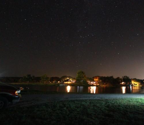inks lake at night