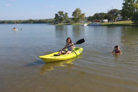 kayak on inks lake