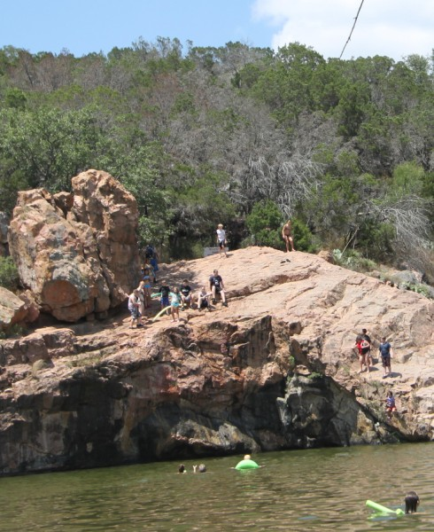 cliff jump at devil's watering hole