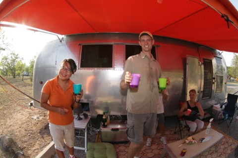 french 76's at the airstream garner state park