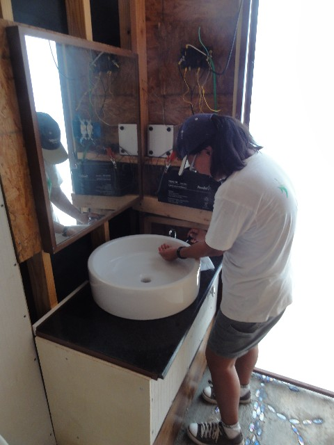 wimberley off grid bathroom