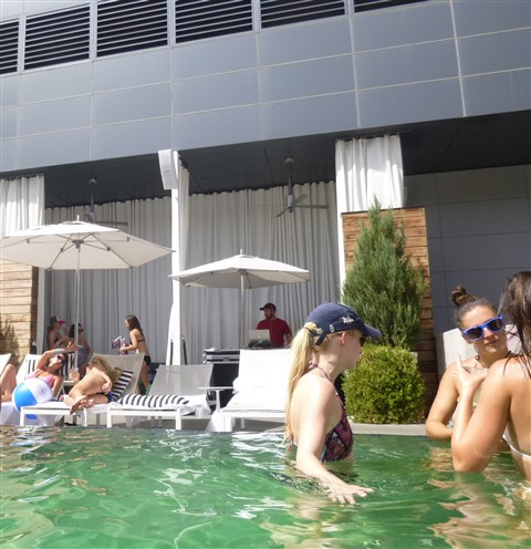 w hotel pool party austin DJ bird peterson