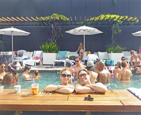 W Hotel Austin Pool party wet deck