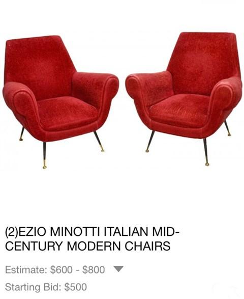 minotti mcm italian chairs