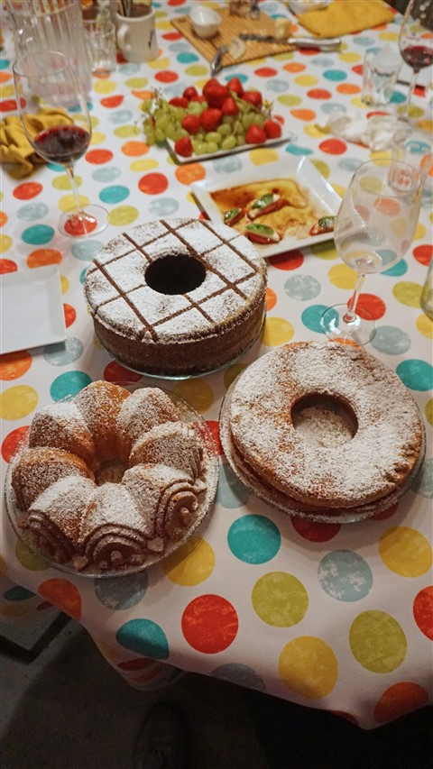 trio of port cakes