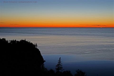 bay of fundy sunset from cliffside digby nova scotia