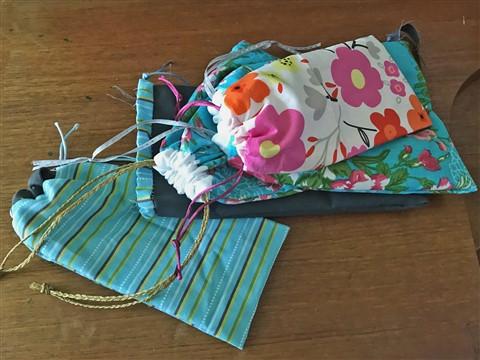sewing craft drawstring bags