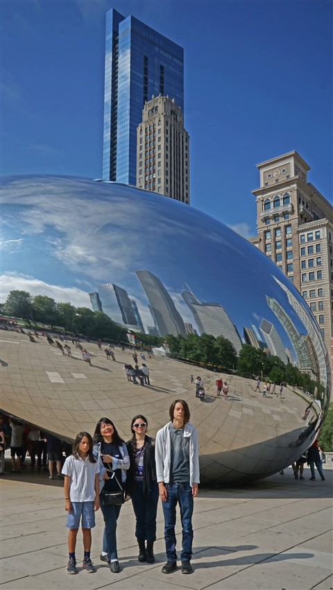 mirrored kidney bean chicago cloud gate