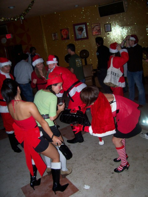 Naughty santa girls
