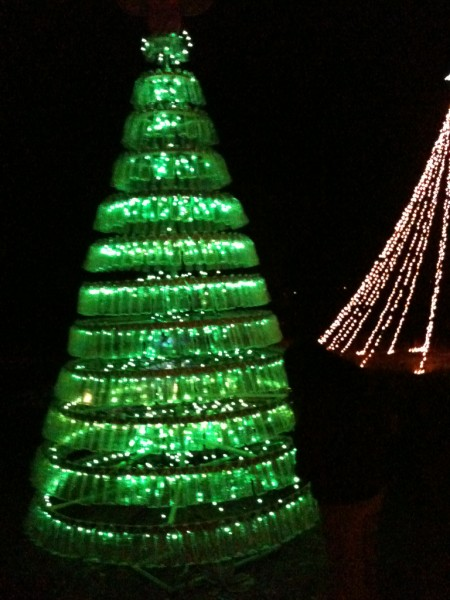 recycled water bottle xmas tree