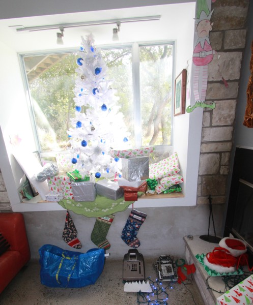 our fake plastic tree