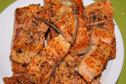 pan seared steelhead trout/salmon