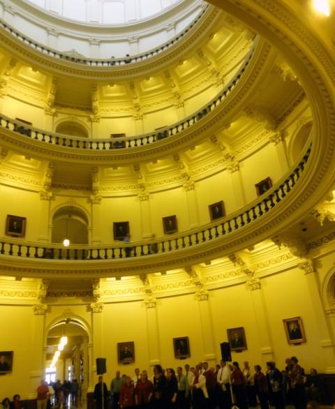 texas state capitol rotunda barbershop singers