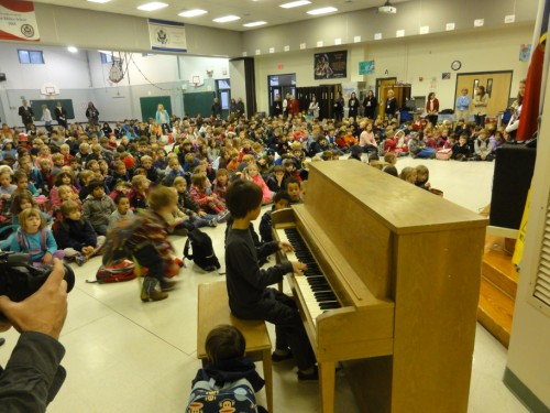 piano eanes elementary assembly pep rally moment of silence