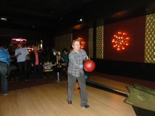 bowling with cocktails