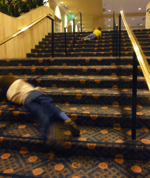 rolling down the stairs at the anatole dallas