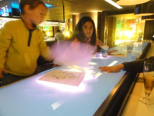 interactive bar at media bar and grill anatole-sort of lame