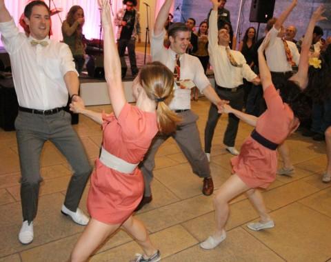 dancers at blanton b-scene party austin art museum