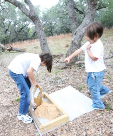 kids sand box project