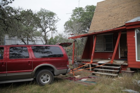 powerstroke diesel pulls the porch off