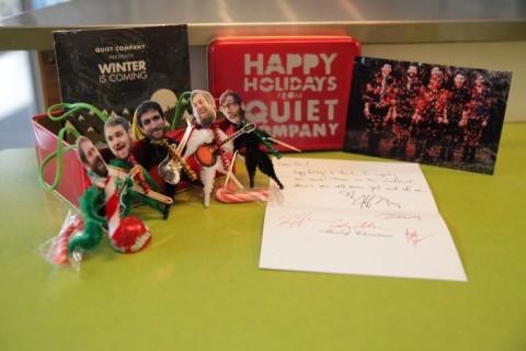 quiet company holiday gift tin