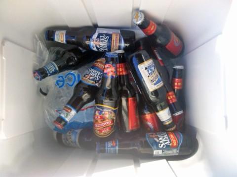 leftover quiet company beer stash