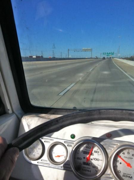 dodge a100 van at highway speed austin texas