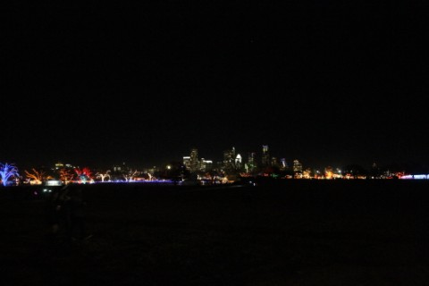 austin skyline and trail of lights winter 2012
