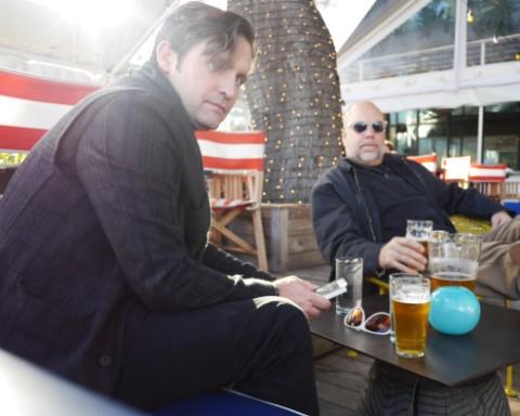 dudes drinking hefeweizen at perla's soco austin 78704