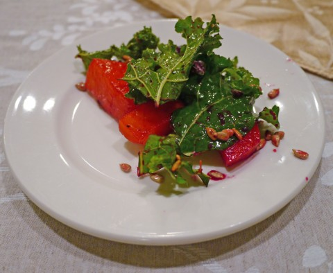 Christmas Kale and Beet Salad